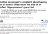 Airline passenger's complaint