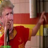 Trump at the Al Smith dinner...