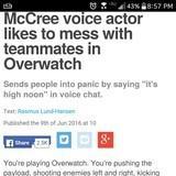 McCree Voice Actor