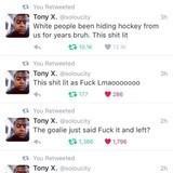 This nigga loves Hockey
