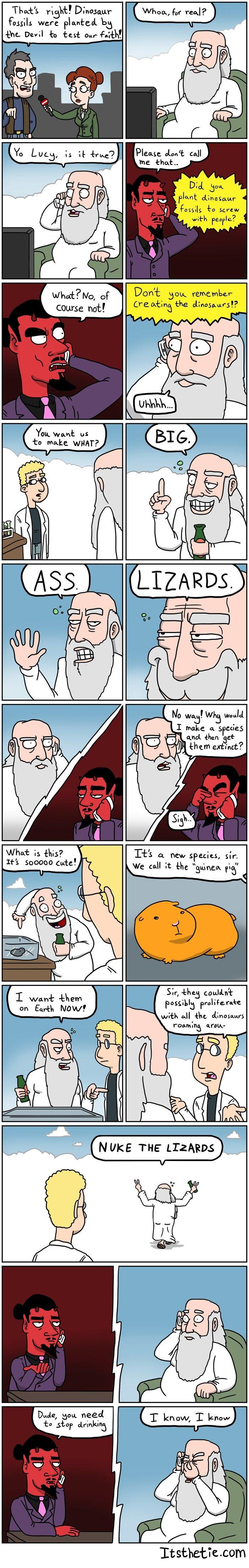 Adventures of God 2. Who's to say this didn't happen, amirite? itsthetie.com facebook.com/itsthetie. itsthetie